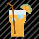 drink, ice, juice, lemon, tea