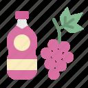 beverage, drink, grape, juice, wine icon