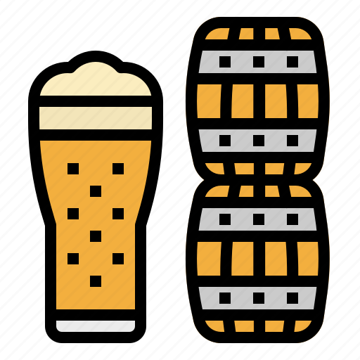 alcohol, bar, barrel, beer, glass icon