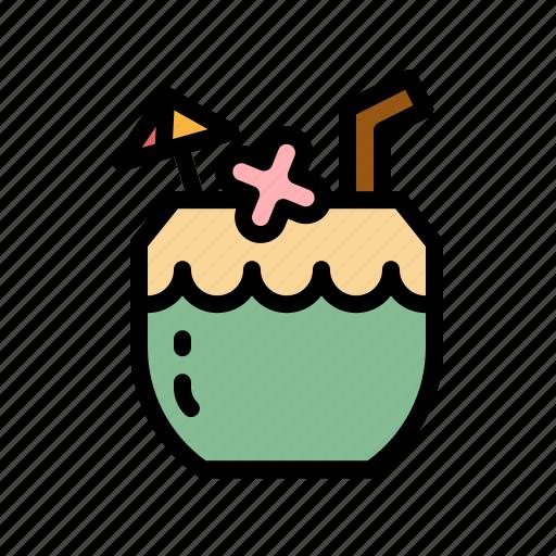 alcohol, cocktai, coconut, drinks, juice icon