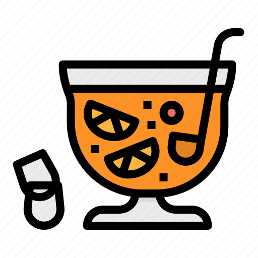alcohol, bowl, drink, jar, punch icon