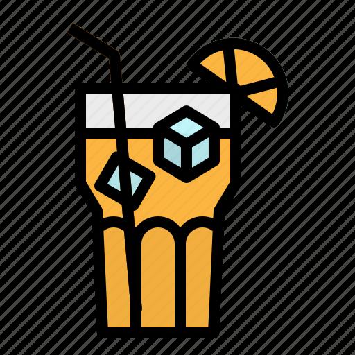drink, ice, juice, lemon, tea icon