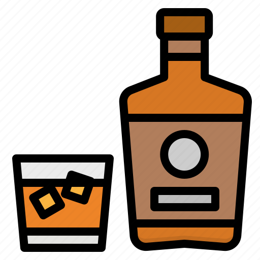 Alcohol, alcoholic, bottle, drink, whiskey icon - Download on Iconfinder