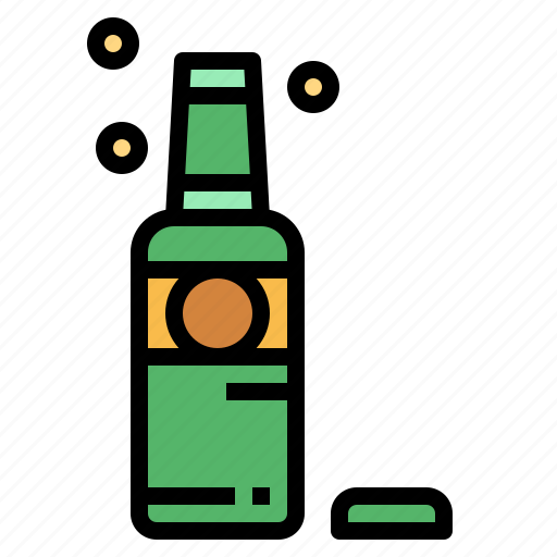 alcohol, bar, beer, bottle icon