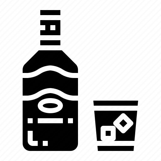 alcoholic, bottle, drink, whiskey icon