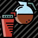 coffee, drink, hot, jar, tea, water