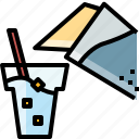 beverage, drink, glass, healthy, water icon