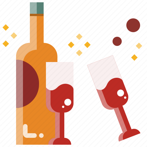 alcohol, beer, beverage, champagne, drink, party, wine icon