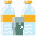 beverage, bottle, drink, glass, healthy, water icon