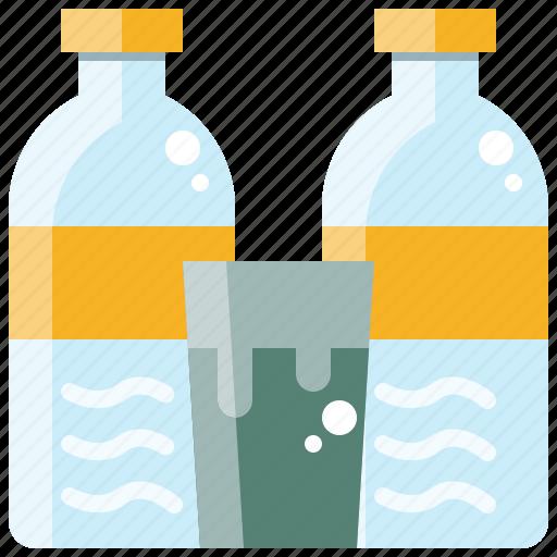 beverage, bottle, drink, glass, healthy, water icon