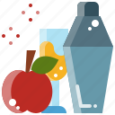 alcohol, beverage, cocktail, drink, juice, shaker icon