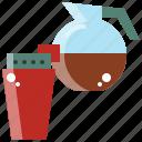 coffee, drink, hot, jar, tea, water icon
