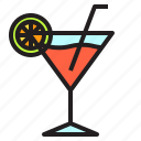alcohol, beverage, cocktail, drink, wine icon