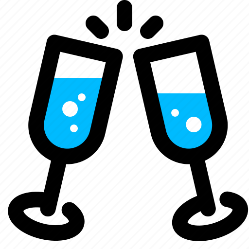celebration, champagne, toast, wine icon