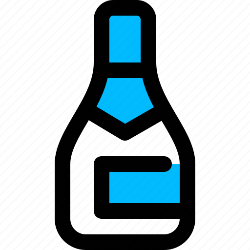 alcohol, bottle, champagne, party icon