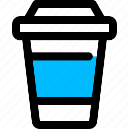 coffee, cup, disposable, hot icon