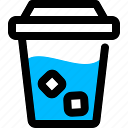coffee, coffeecup, cold, icecoffee icon