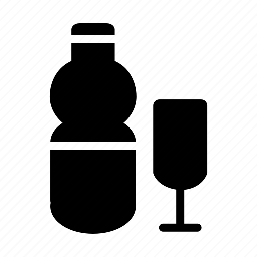 alcohol, and, beverage, bottle, cup icon