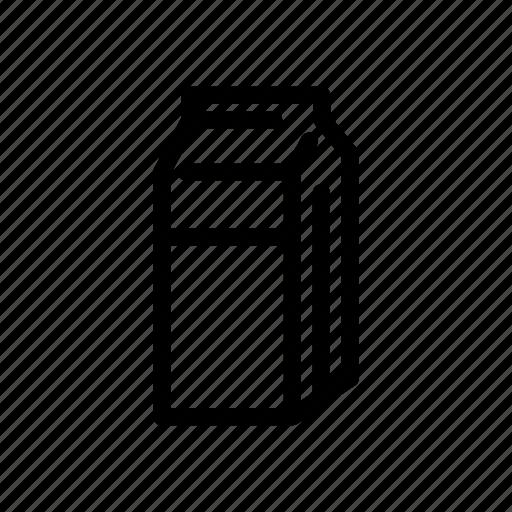 beverages, milk, milk box, milk packaging icon