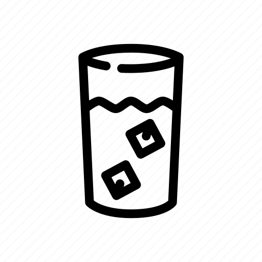 beverages, cold water, drink, ice, icy drink icon