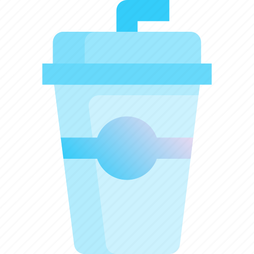 beverage, cup, drink, juice, straw icon