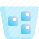 beverage, cool, drink, ice, water icon