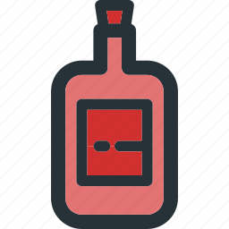 alcohol, beverage, bottle, drink, food, glass icon