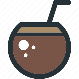 beverage, cocktail, coconut, drink, fruit, juice icon