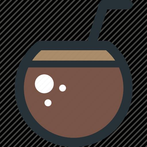 Coconut, drink, beverage, cocktail, fruit, juice icon - Download on Iconfinder