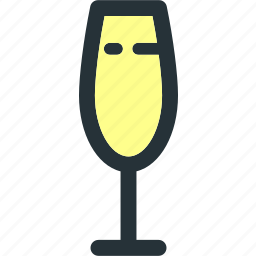 alcohol, beverage, champagne, cocktail, drink, glass, wine icon