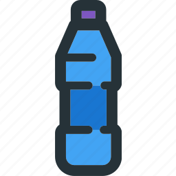 beverage, bottle, drink, glass, plastic, water icon