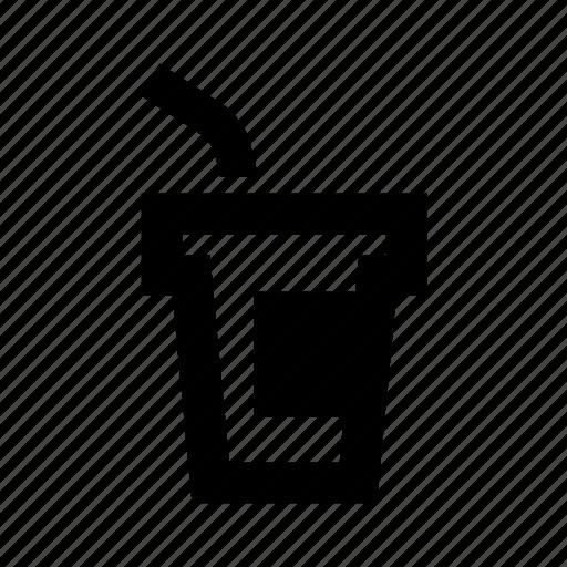 coffee, glass, paper icon icon icon