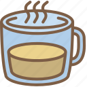 beverage, drink, glass, mug icon