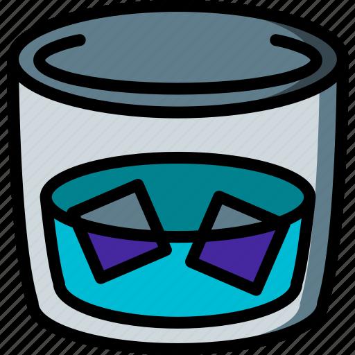 beverage, drink, tumbler icon