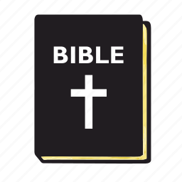 bible, book, cover, cross, gold, paper, religion icon
