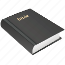 bible, book, on, religion, table icon