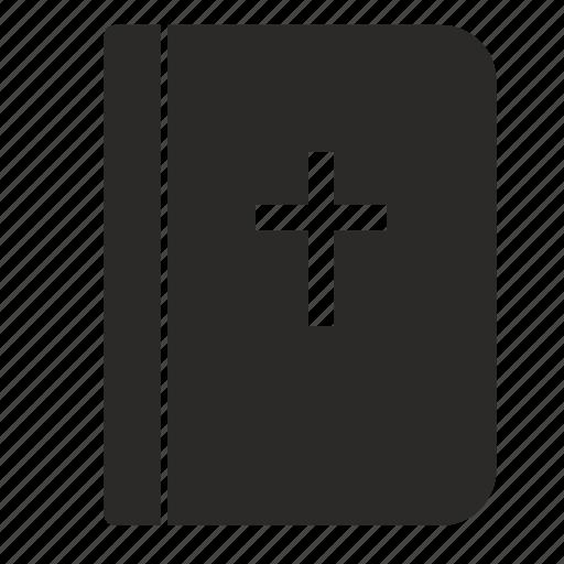 bible, cover, cross, religion icon