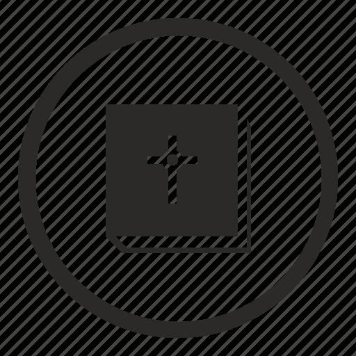 Bible, book, ebook, round icon - Download on Iconfinder