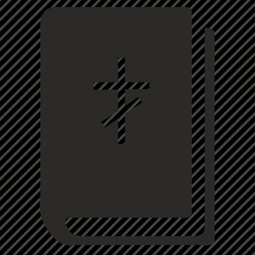 bible, book, cross, ebook, religion icon