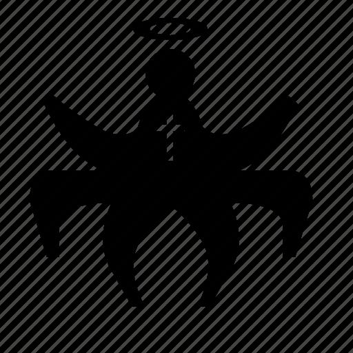 angel, church, man, person, spider icon