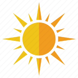 big, bright, element, elements, shine, sun, weather icon