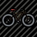 bike, hill, mountain, sports, trail icon