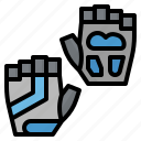 bicycle, gloves, gym, sport, training icon