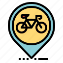 bicycle, location, map, pin, pointer