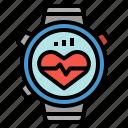 cardiogram, healthcare, heart, rate, smartwatch