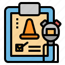 clipboard, plan, schedule, stopwatch, training icon