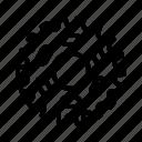bicycle, bike, chain, gear, mechanism icon