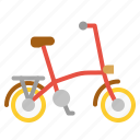 bicycle, bike, exercise, folding, transport icon