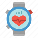cardiogram, healthcare, heart, rate, smartwatch icon