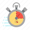 clock, fast, stopwatch, training, watch icon